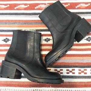 Harley Davidson Slip On Black Leather Boot, 8